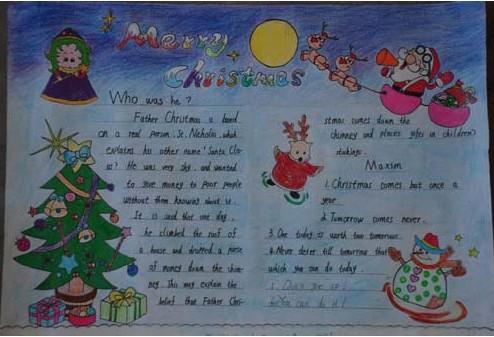 圣诞节英语手抄报_圣诞节英语手抄报内容_关于圣诞节的手抄报