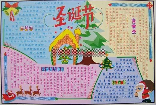 圣诞节英语手抄报模板