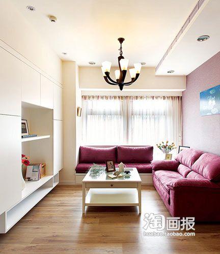 客厅整体效果,客厅飘窗还可设计成沙发的样式.多功能喔.